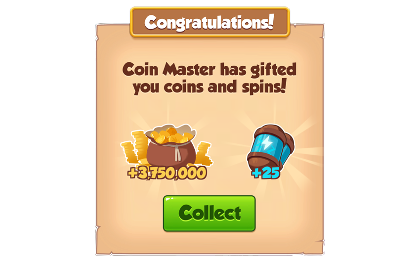 14-01-2019 - 2nd Link 25 Spins And 3.75M Coins