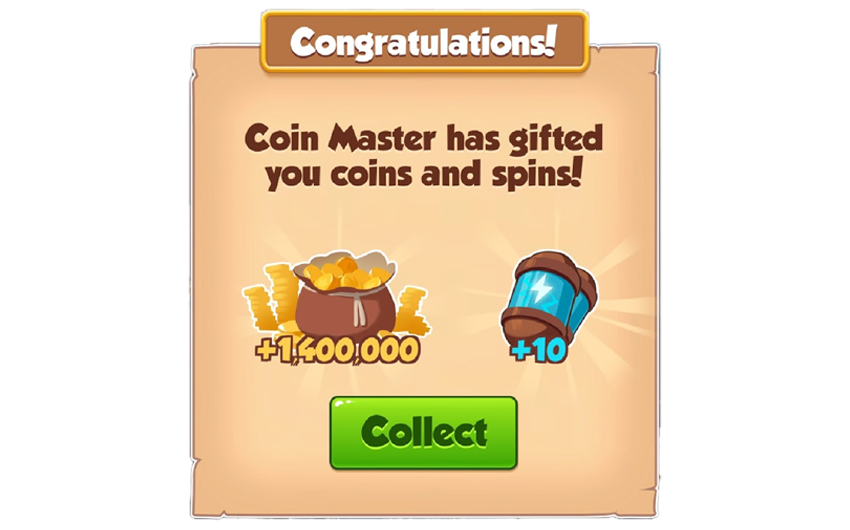 12-01-2019 - 1st Link For 10 Spins And 1.4M Coins